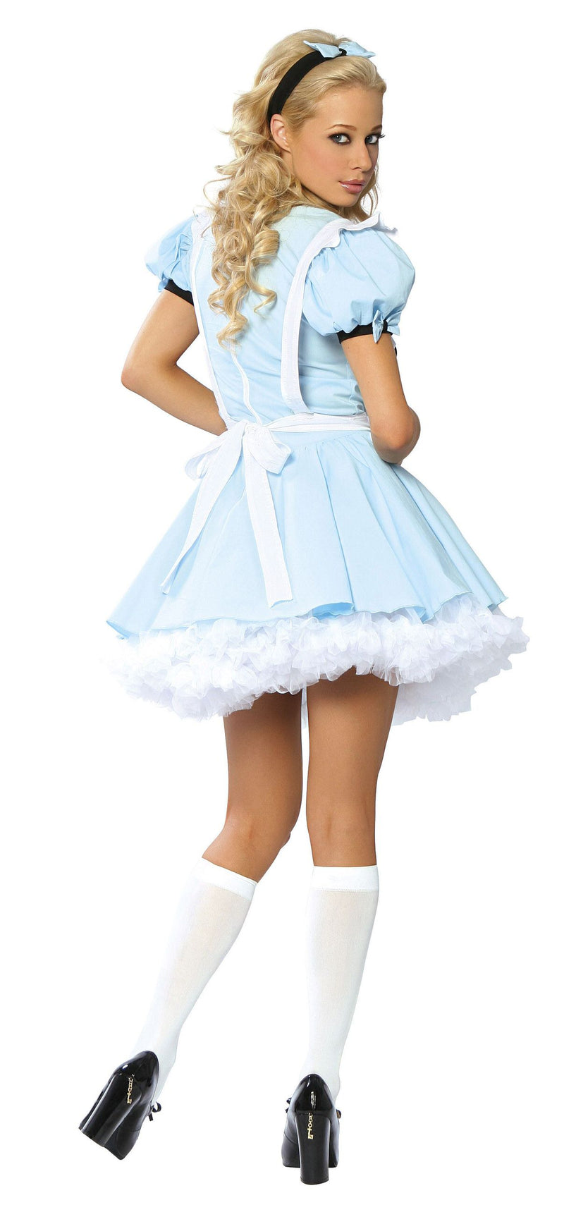 3 Piece Alice in Wonderland Light Blue Dress Costume - Fest Threads