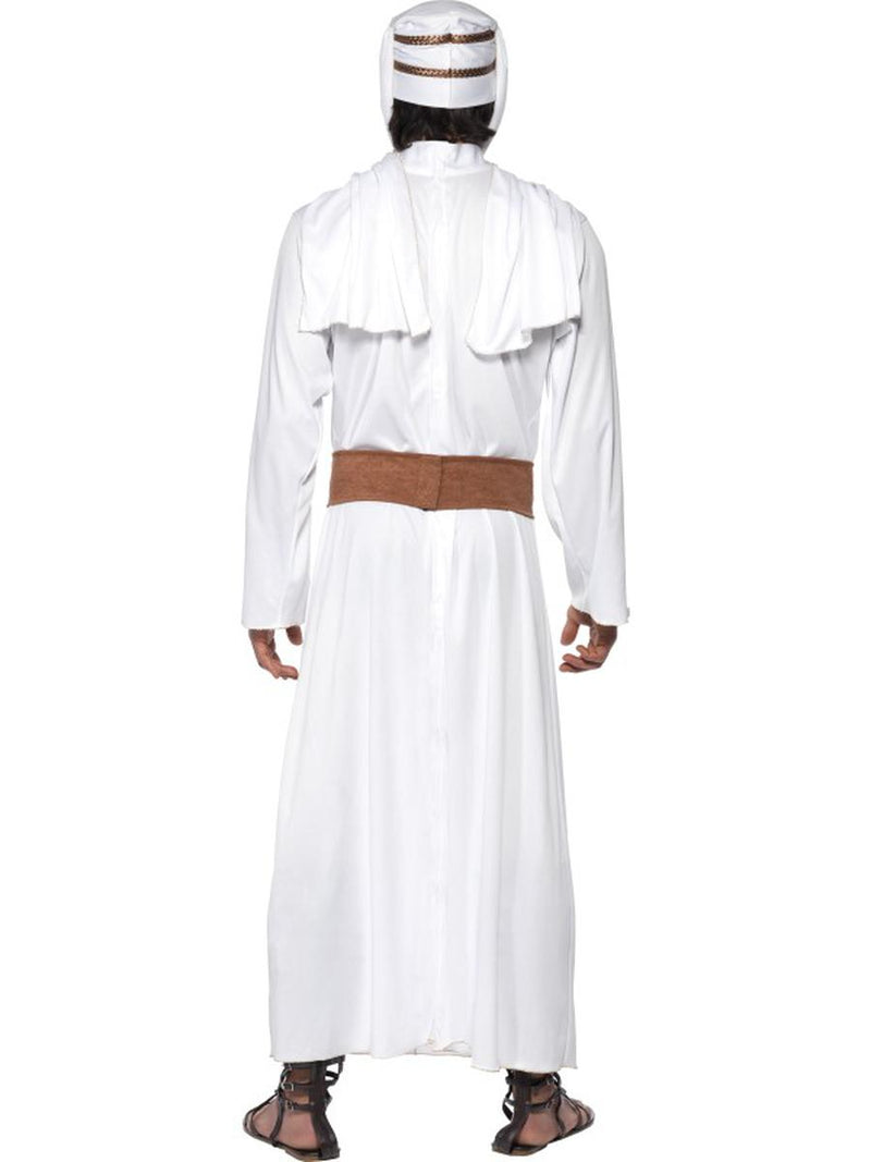 3 PC Men's Arabian Soldier Fighter Gown & Headpiece w/ Belt Party Costume - Fest Threads