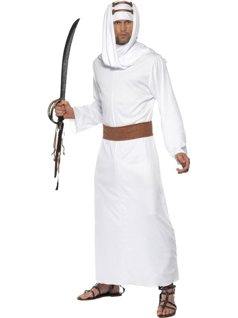 3-PC-Men's-Arabian-Soldier-Fighter-Gown-&-Headpiece-w/-Belt-Party-Costume