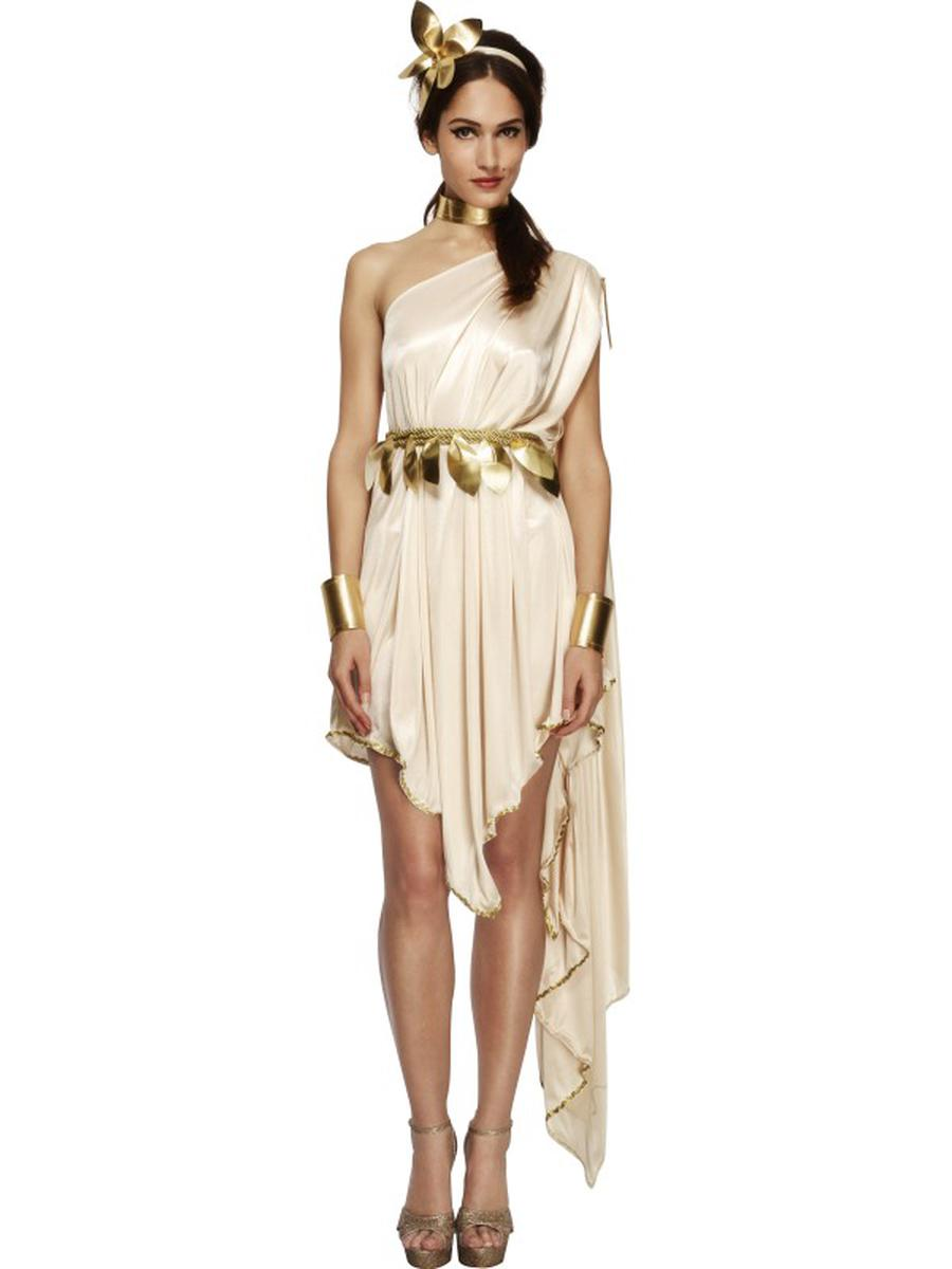 6-PC-Women's-Ancient-Greek-Goddess-Athena-One-Shoulder-Dress-w/-Accessories