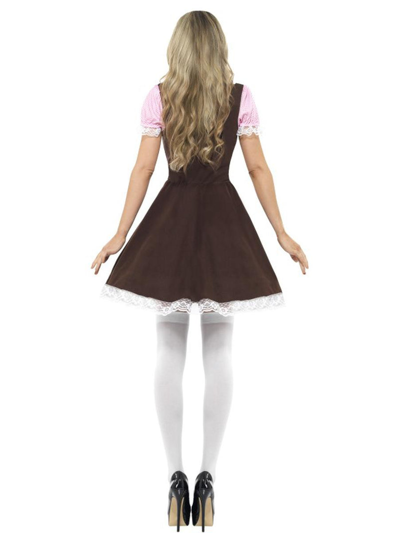 1 PC German Bavarian Oktoberfest Brown and Pink Apron Dress Party Costume - Fest Threads