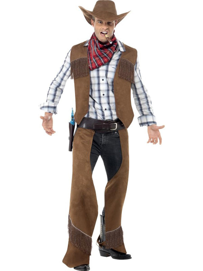 4-PC-Wild-West-Cowboy-Cattleman-Vest-&-Chaps-w/-Accessories-Party-Costume