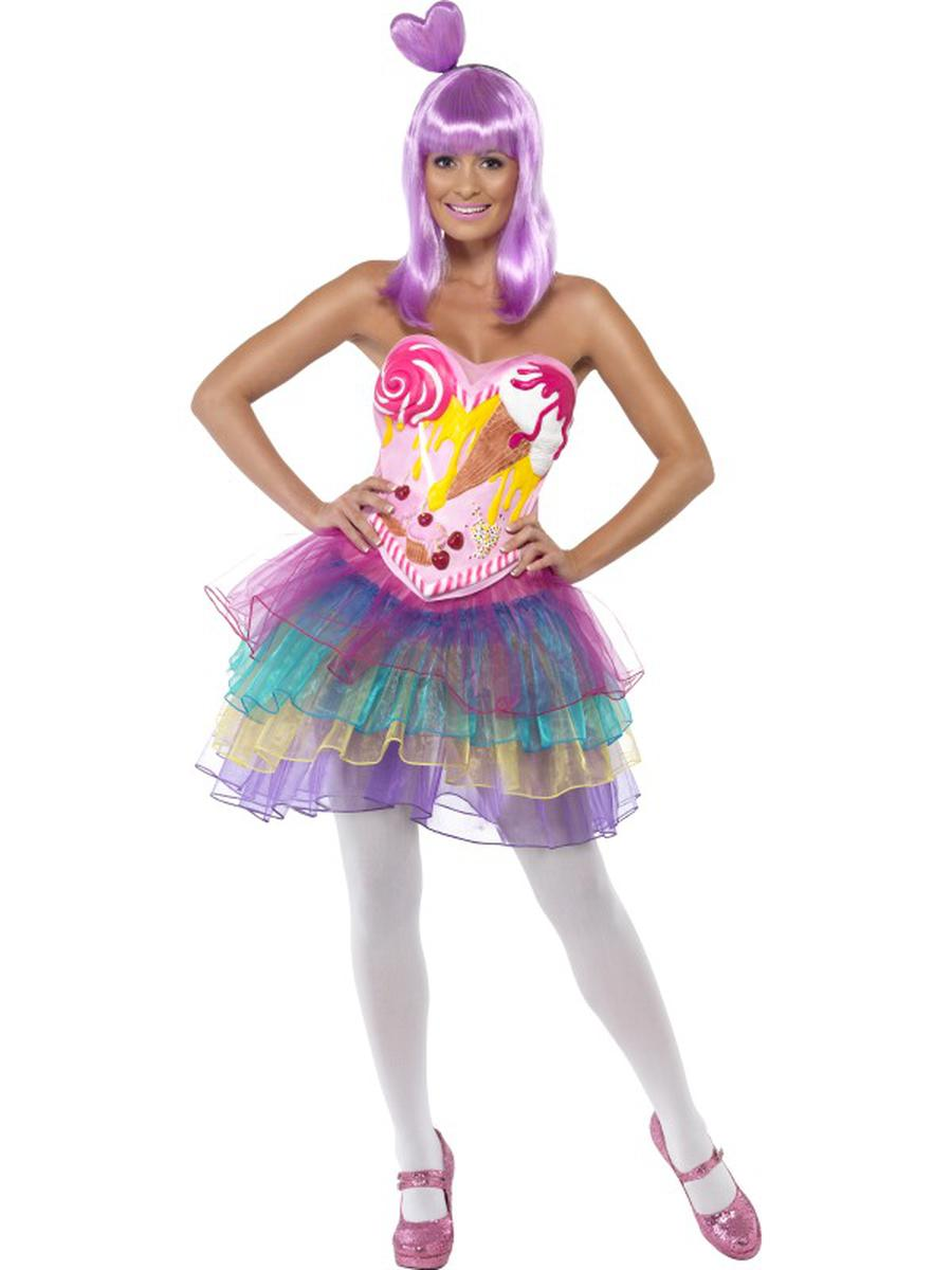 1-PC-California-Girl-Celebrity-Katy-Candy-Printed-Tutu-Dress-Party-Costume