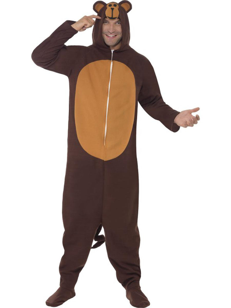 1-PC-Unisex-Brown-Bear-Hooded-Jumpsuit-Bodysuit-Party-Costume