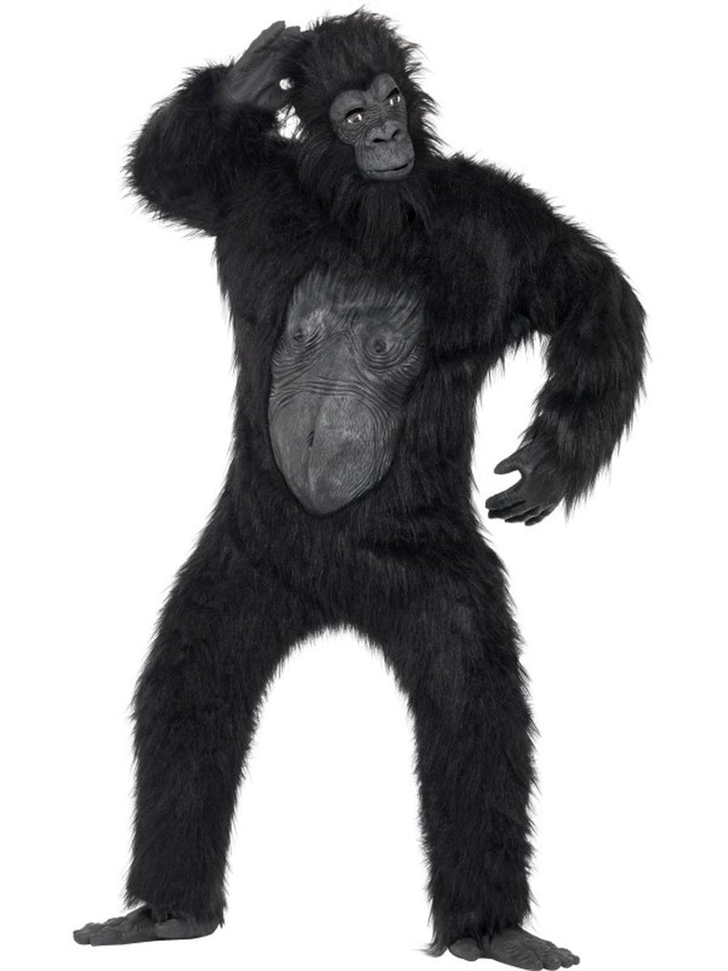 6-PC-Unisex-King-Gorilla-Ape-Mascot-Like-Bodysuit-&-Mask-w/-Accessories-Costume