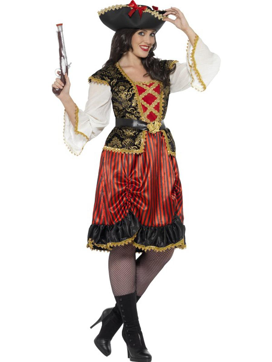 2-PC-Pirate-Lady-Midi-Dress-&-Belt-Party-Costume---Plus-Size