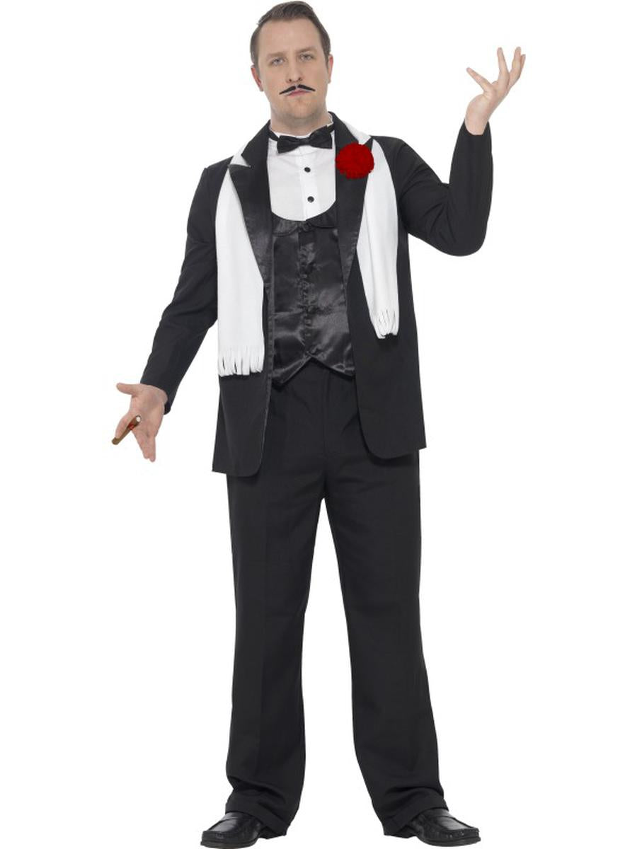 4-PC-Mafia-Gangster-Faux-Tux-Jacket-&-Pants-w/-Accessories-Costume---Plus-Size