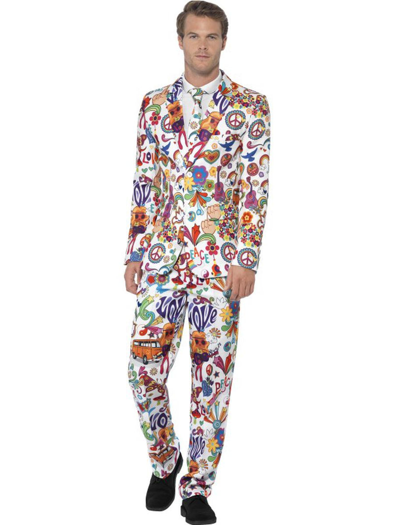 3-PC-Men's-Groovy-Woodstock-Hippie-Suit-Jacket-&-Pants-w/-Tie-Party-Costume