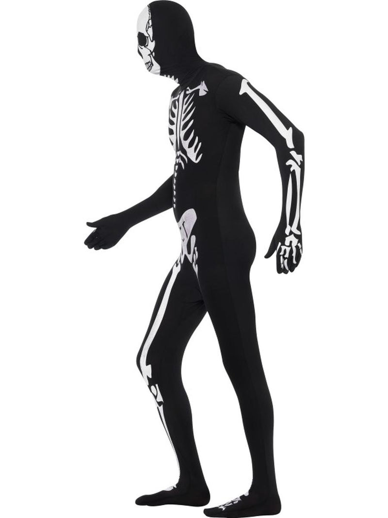 2 PC Men's Scientific Anatomy Xray Bones Bodysuit & Mask Costume - Fest Threads