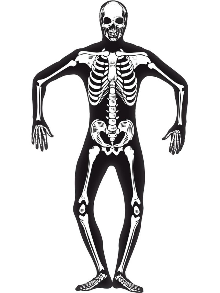 2-PC-Men's-Scientific-Anatomy-Xray-Bones-Bodysuit-&-Mask-Costume
