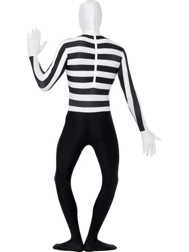 6 PC Men's Mime Striped Body Suit Skin Onesie Party Costume - Fest Threads
