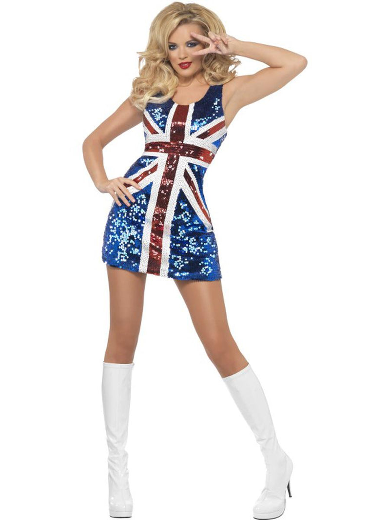 1-PC-Women's-UK-Pop-Star-Spice-Lady-Sequin-Flag-Dress-Party-Costume