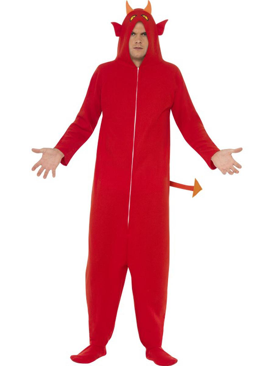 1-PC-Unisex-Devil-Demon-Red-Hooded-Onesie-Jumpsuit-Party-Costume