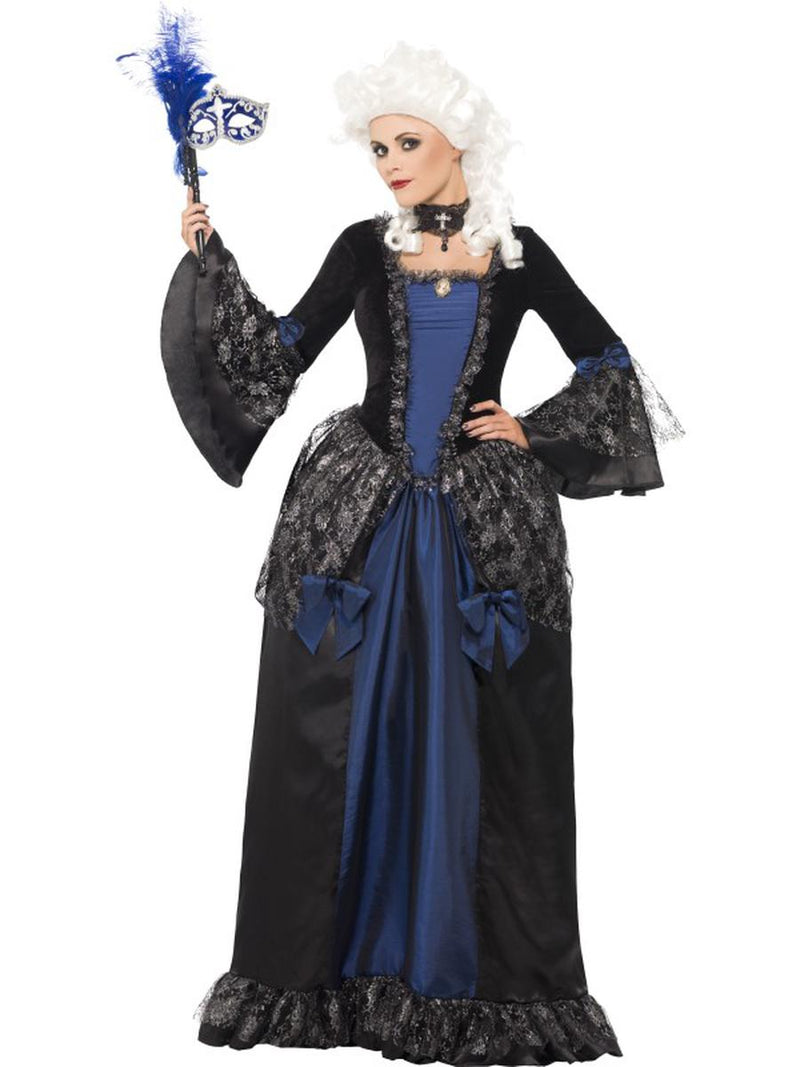 1-PC-Women's-Baroque-European-French-Queen-Peplum-Maxi-Dress-Party-Costume