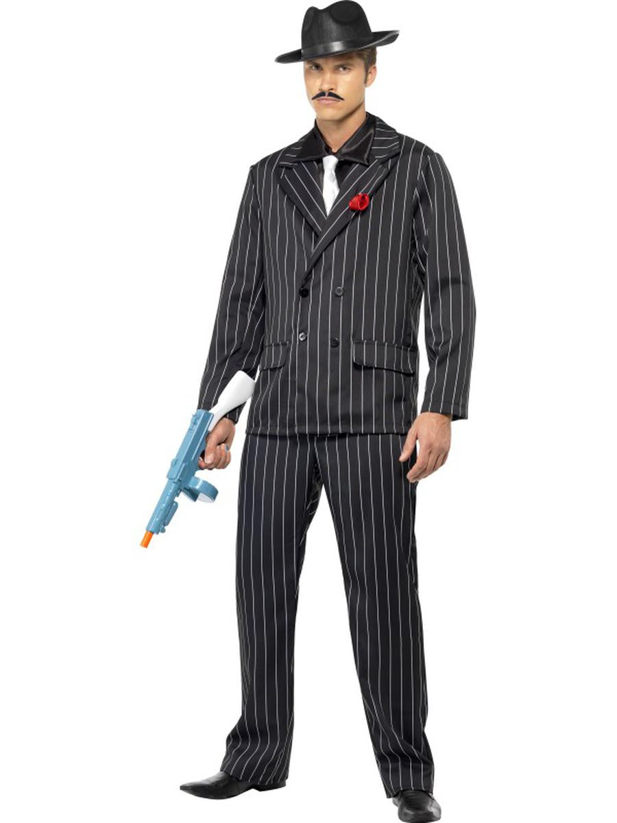4-PC-Gangster-Mafia-Mobster-Man-Pinstripe-Jacket-Shirt-&-Pants-Party-Costume