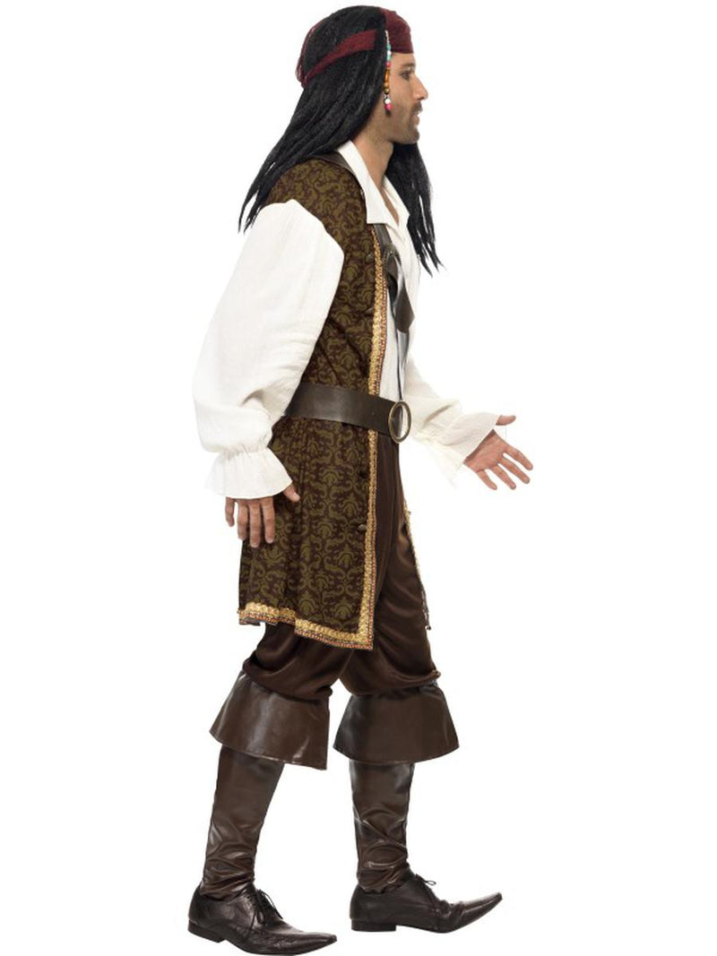 5 PC Pirate Captain Man Top & Short Trousers w/ Accessories Party Costume - Fest Threads