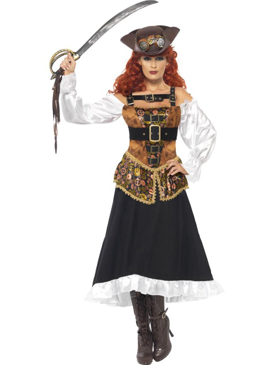 1-PC-Steampunk-Sci-Fi-Pirate-Fighter-Midi-Dress-Party-Costume