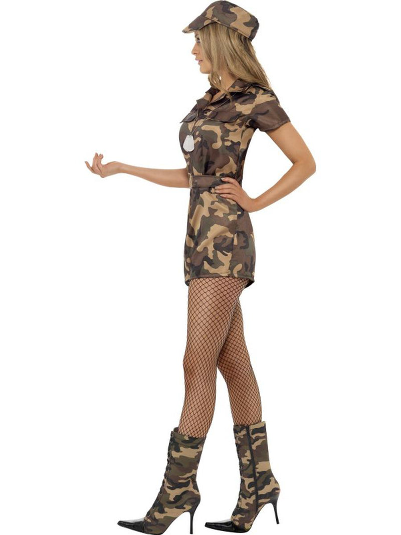 3 PC Women's Army Military Lady Camouflage Romper w/ Accessories Party Costume - Fest Threads