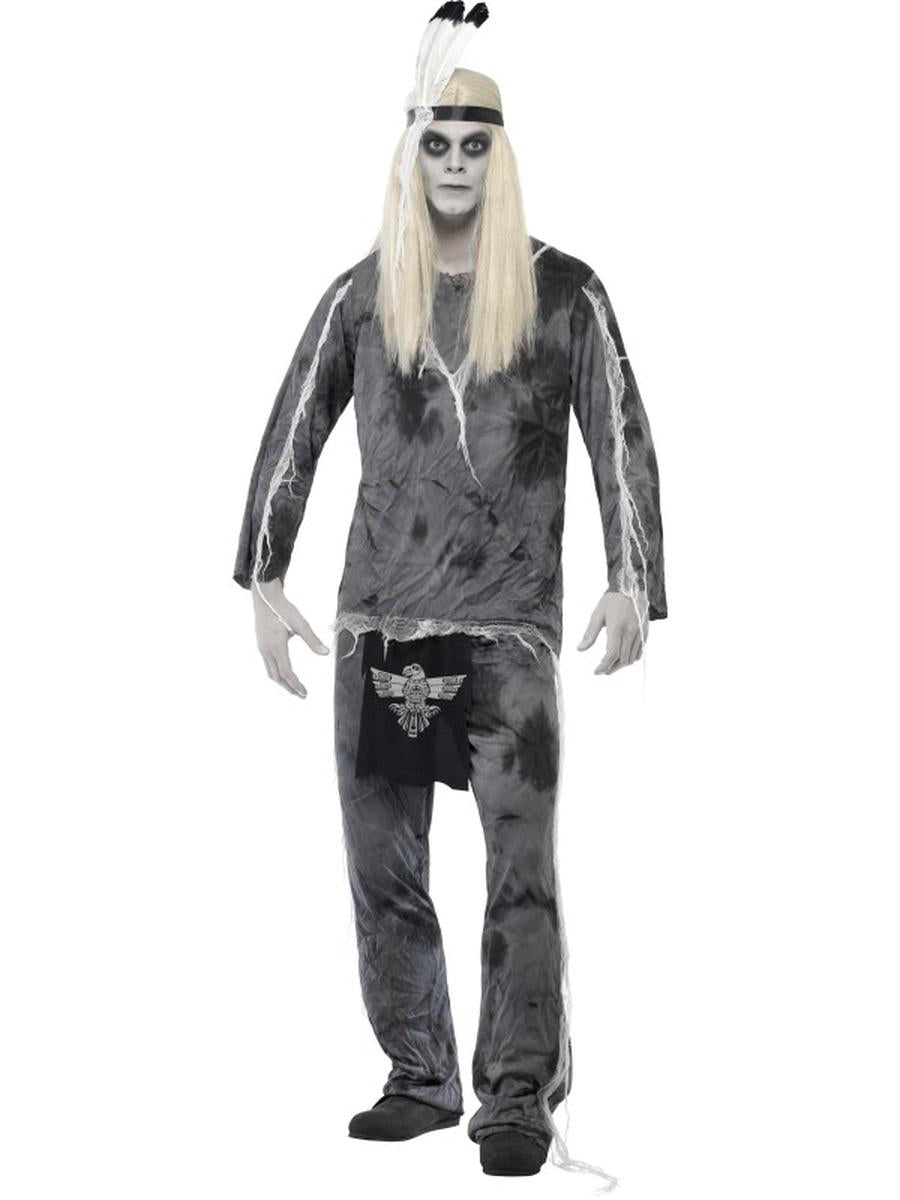 3-PC-Men's-Native-American-Ghost-Indian-Chief-Shirt-&-Pants-w/-Headpiece-Costume