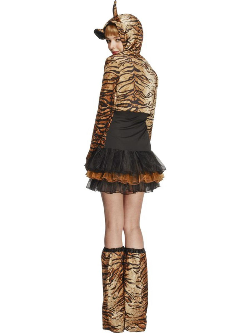 4 PC Women's Tiger Tutu Dress & Hooded Jacket w/ Bootcovers Party Costume - Fest Threads