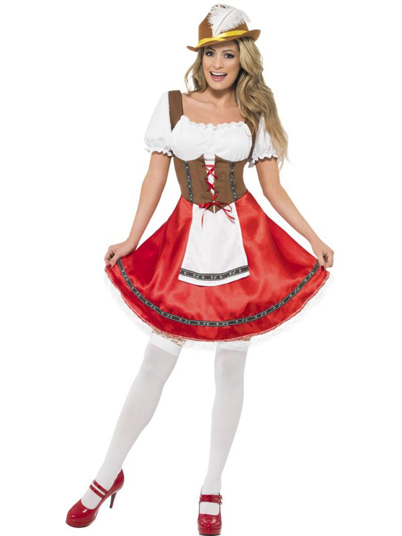 1-PC-German-Bavarian-Oktoberfest-White-&-Red-Apron-Dress-Party-Costume-
