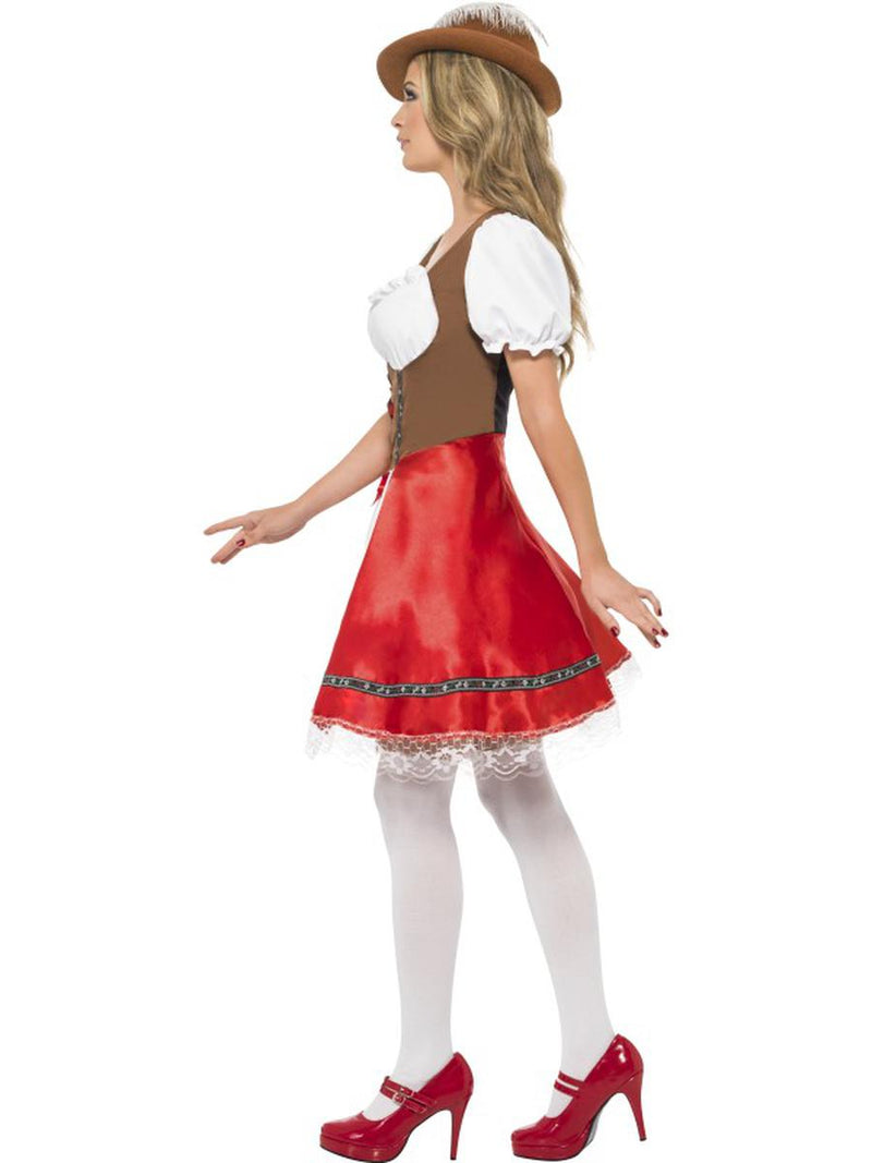 1 PC German Bavarian Oktoberfest White & Red Apron Dress Party Costume - Fest Threads