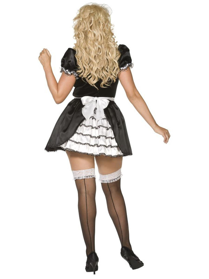 3 PC French Maid Black Dress & Apron w/ Headband Party Costume - Plus Size - Fest Threads