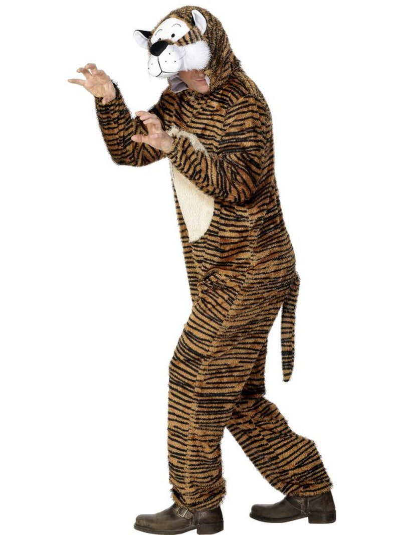 2-PC-Unisex-Tiger-Bodysuit-&-Open-Hood-Party-Costume