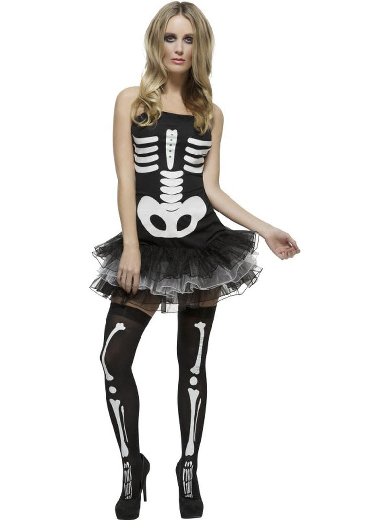 1-PC-Dark-Skeleton-Sugar-Skull-Day-of-the-Dead-Strapless-Tutu-Dress-Costume
