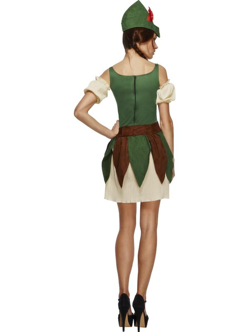 5 PC Outlaw Bandit Thief Lady Robin Hood Dress w/ Accessories Party Costume - Fest Threads