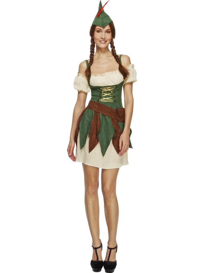 5-PC-Outlaw-Bandit-Thief-Lady-Robin-Hood-Dress-w/-Accessories-Party-Costume