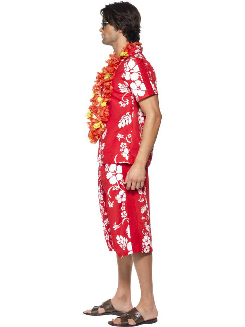 2 PC Men's Hawaiian Luau Tourist Surfer Dude Tropical Shirt & Shorts Costume - Fest Threads