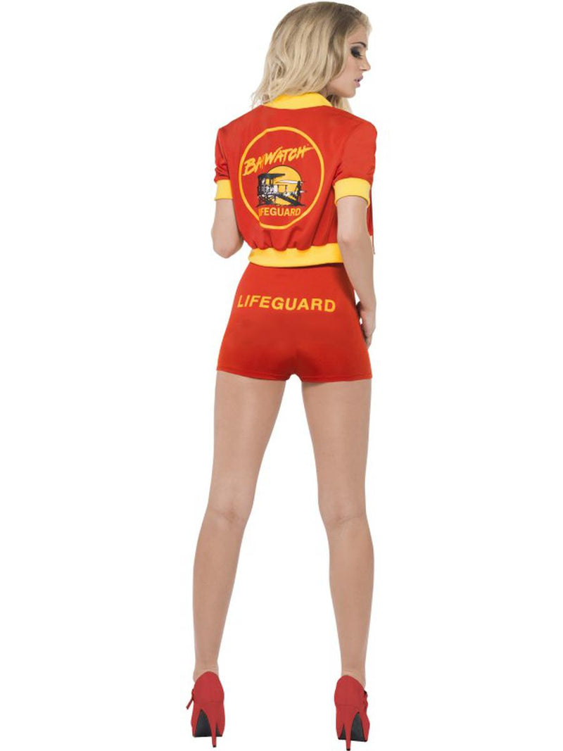 3 PC Baywatch Lifeguard Red Bodysuit & Jacket w/ Floater Party Costume - Fest Threads