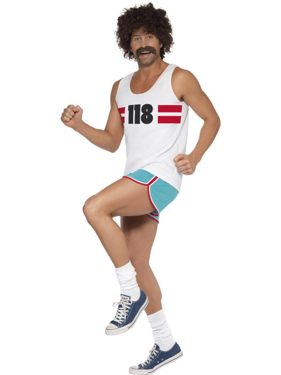 2-PC-Men's-Male-Marathon-Runner-Guy-Track-Star-Tank-Shirt-&-Shorts-Party-Costume