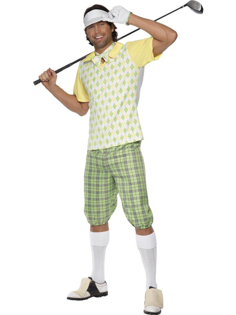 5-PC-Men's-Golfer-Dude-Shirt-&-Shorts-w/-Accessories-Party-Costume