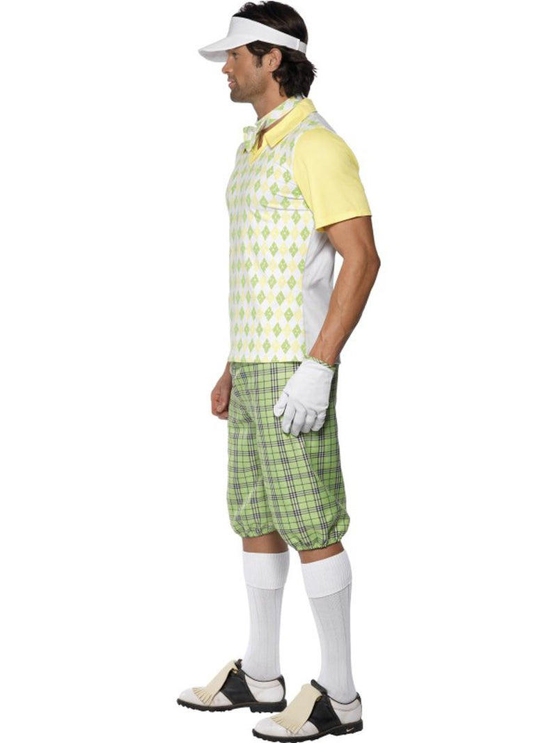 5 PC Men's Golfer Dude Shirt & Shorts w/ Accessories Party Costume - Fest Threads