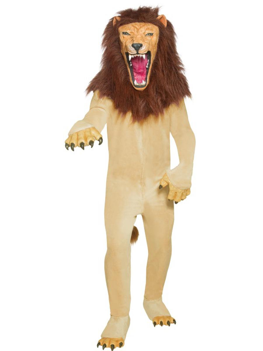 6-PC-Unisex-Circus-Lion-Mascot-Like-Jumpsuit-&-Mask-w/-Accessories-Party-Costume