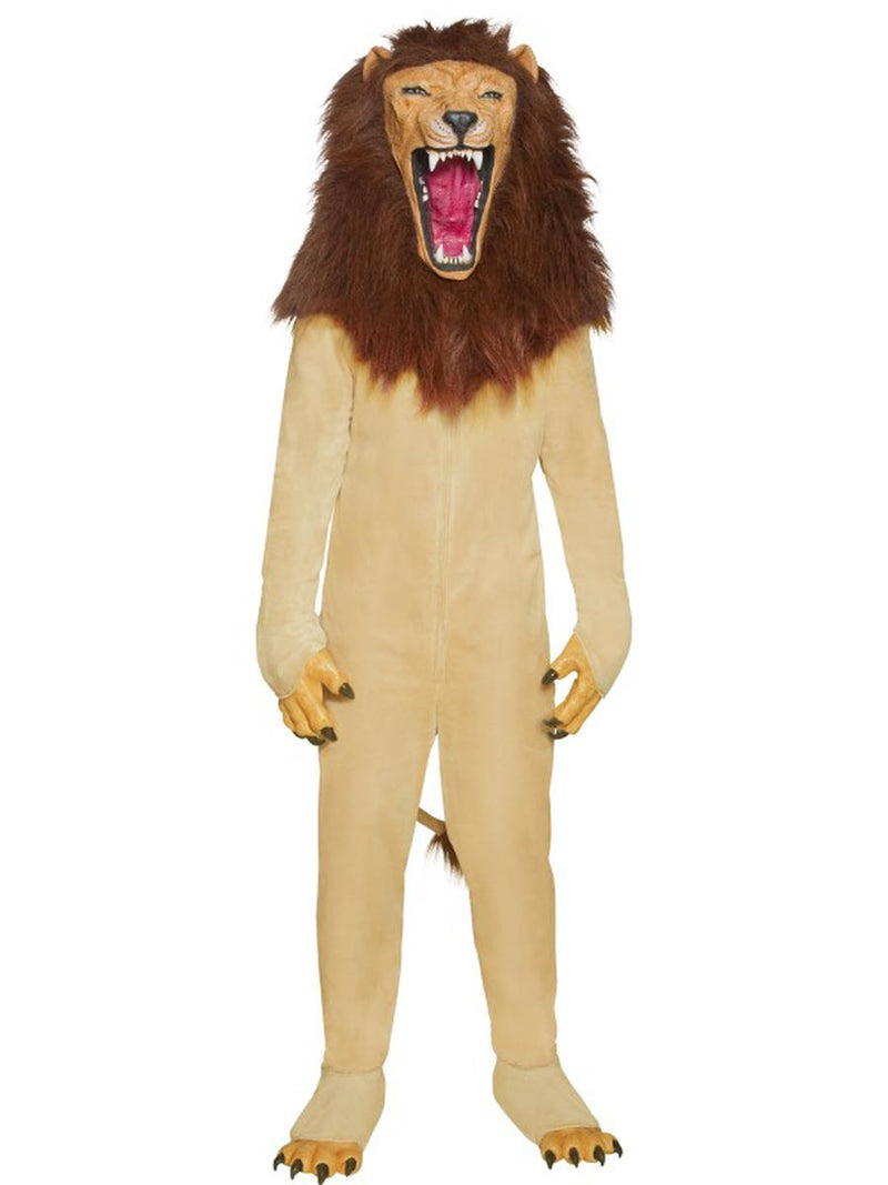 6 PC Unisex Circus Lion Mascot-Like Jumpsuit & Mask w/ Accessories Party Costume - Fest Threads