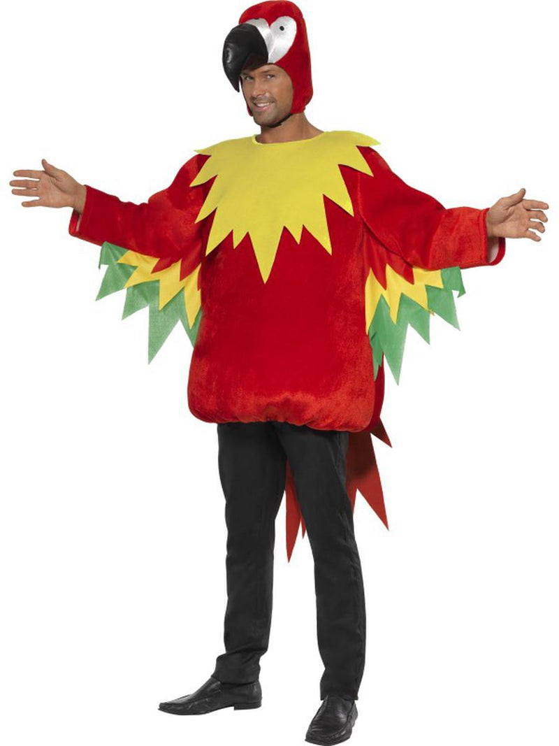 2-PC-Unisex-Tropical-Parrot-Bird-of-Paradise-Jumpsuit-&-Open-Hood-Party-Costume
