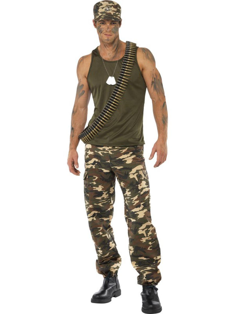 2-PC-Military-Army-Man-Green-Sleeveless-Tank-Top-&-Camo-Trousers-Party-Costume