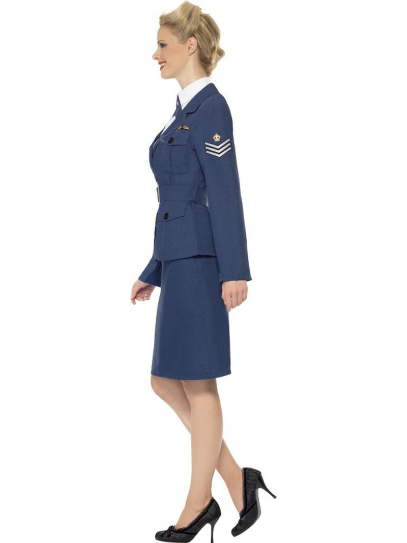 4 PC Women's WWII Air Force Military Jacket & Skirt w/ Accessories Party Costume - Fest Threads