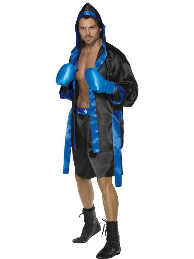 4-PC-Men's-Boxer-Champion-Robe-&-Shorts-w/-Gloves-Party-Costume