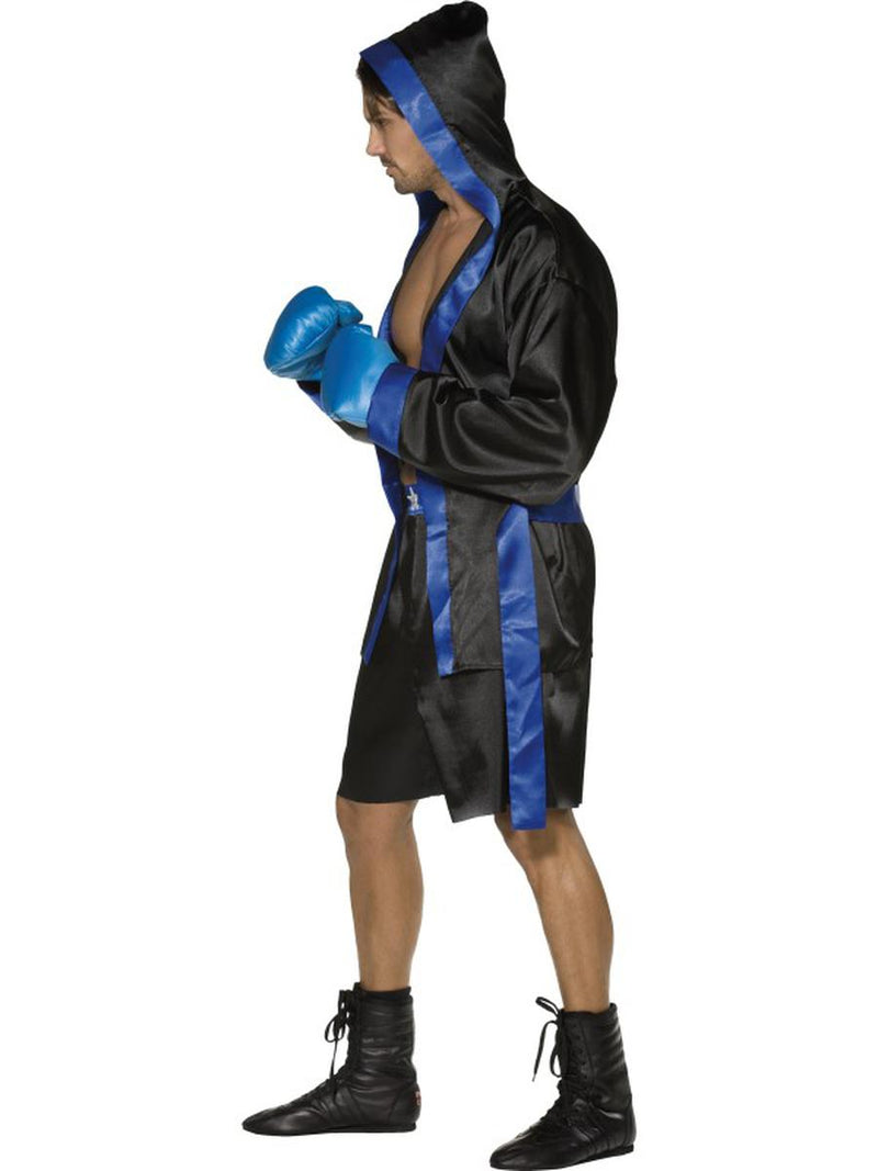4 PC Men's Boxer Champion Robe & Shorts w/ Gloves Party Costume - Fest Threads