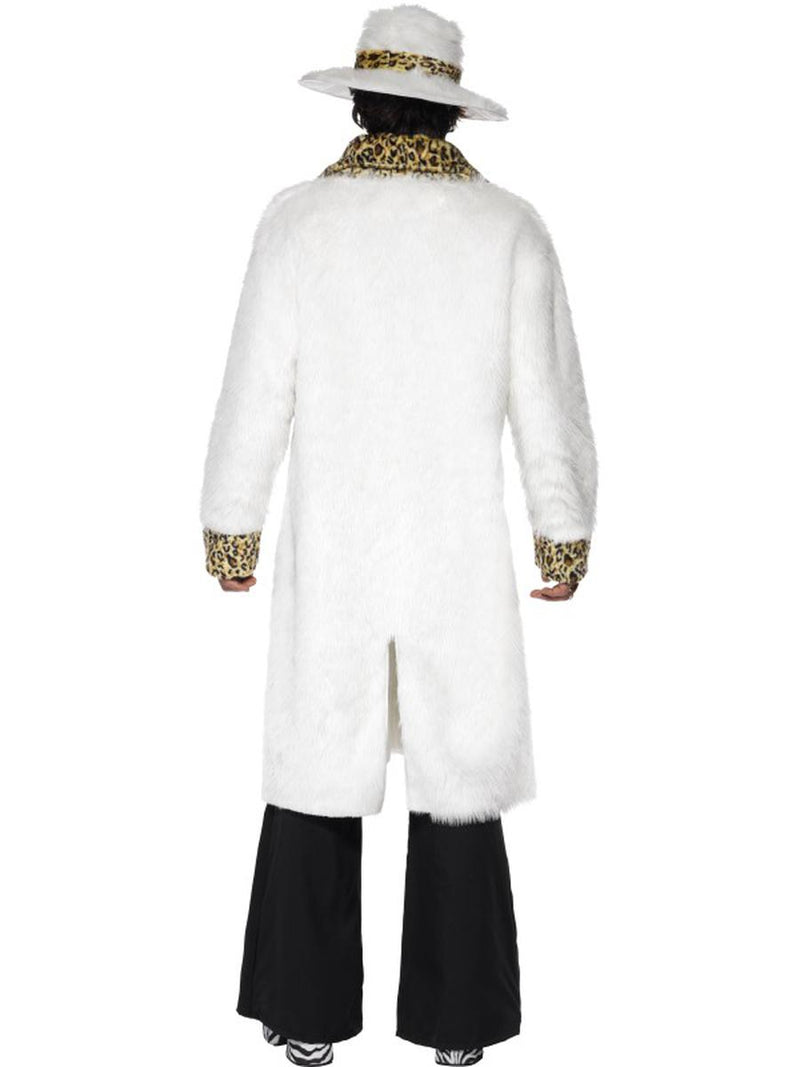 3 PC Gangster Pimp Leopard Print Fur Coat & Pants w/ Hat Party Costume - Fest Threads