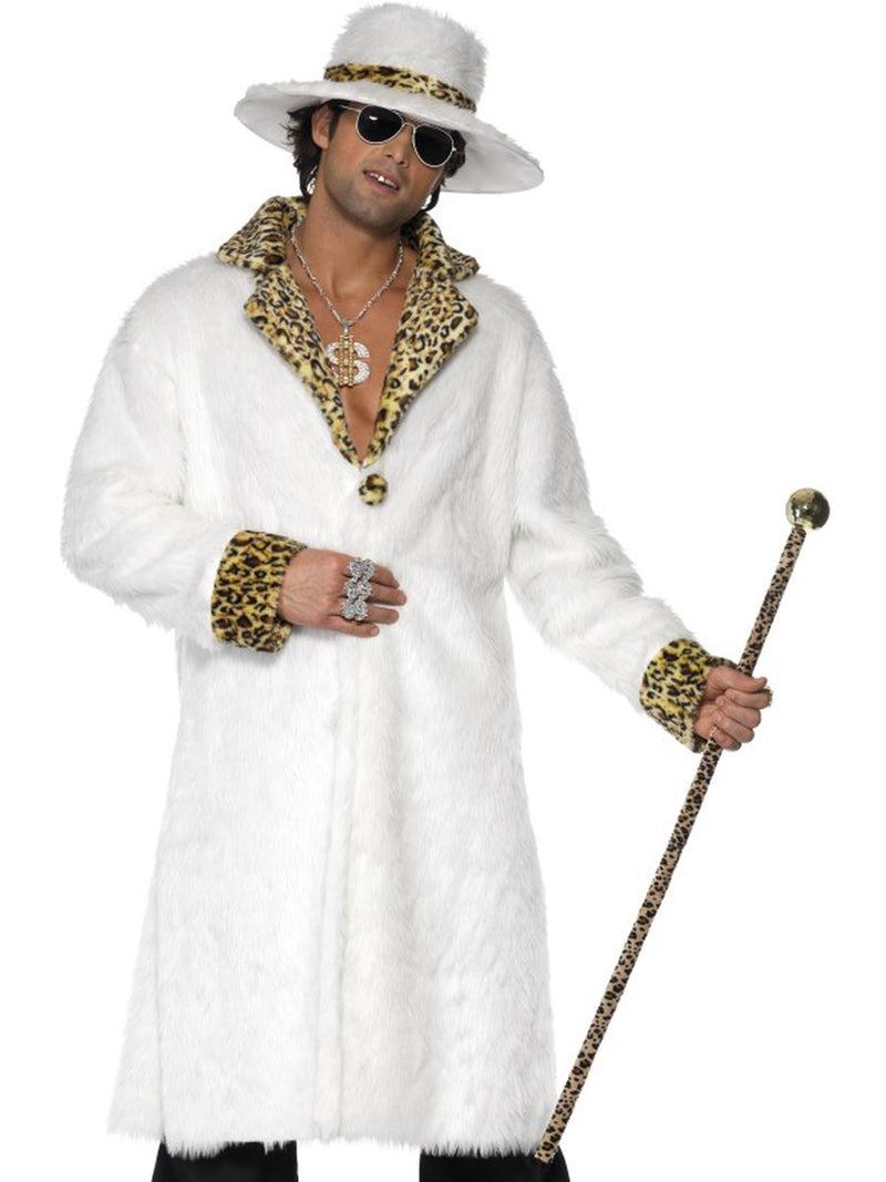 3-PC-Gangster-Pimp-Leopard-Print-Fur-Coat-&-Pants-w/-Hat-Party-Costume