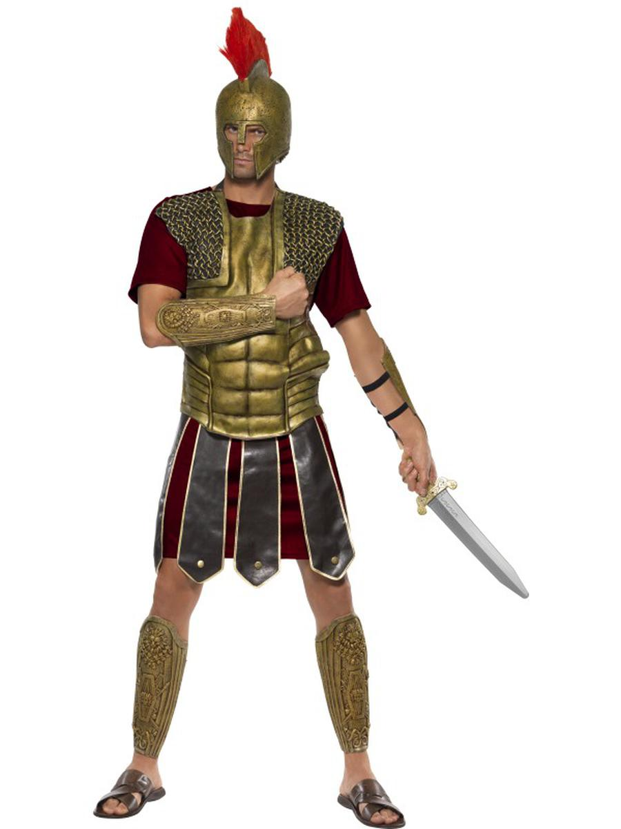 5-PC-Roman-Gladiator-Hermes-Chest-Piece-w/-Arm-&-Leg-Cuffs-Party-Costume