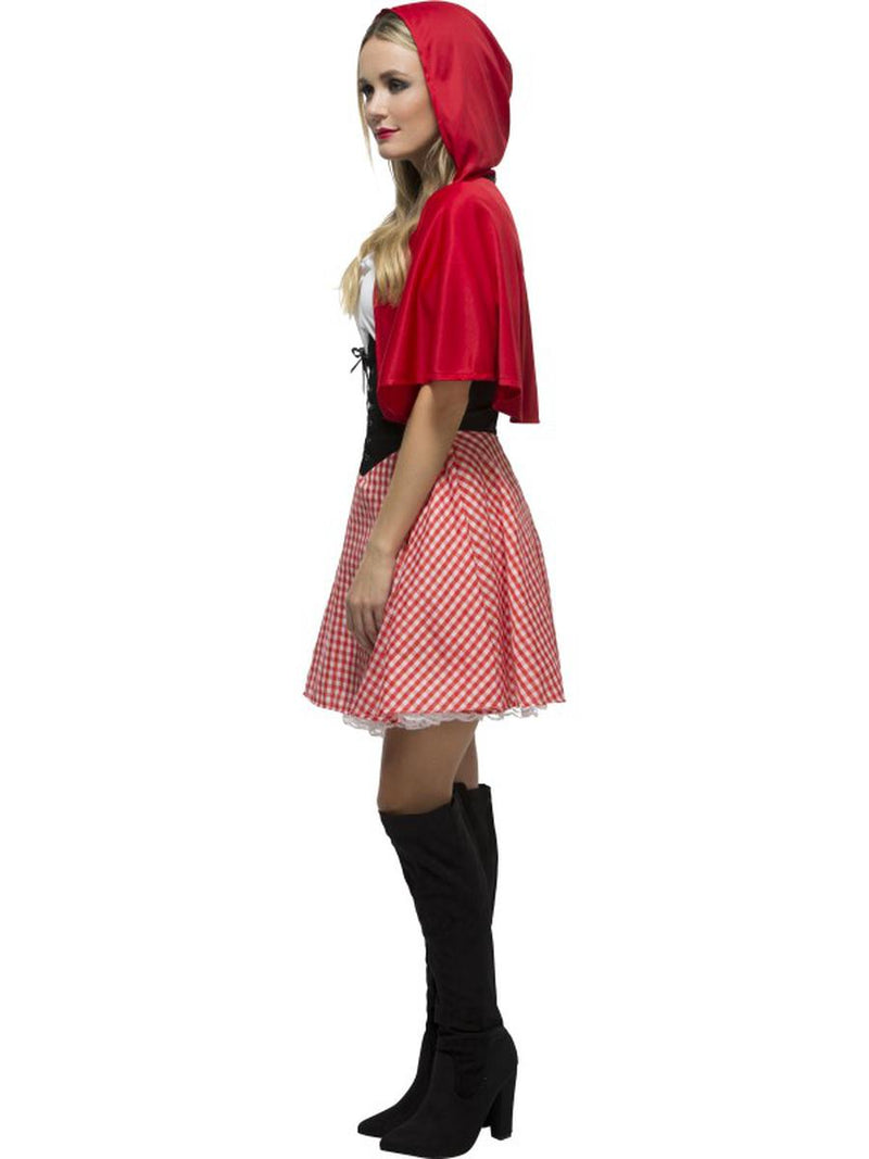 2 PC Women's Little Red Riding Hood Gingham Dress & Hooded Cape Party Costume - Fest Threads