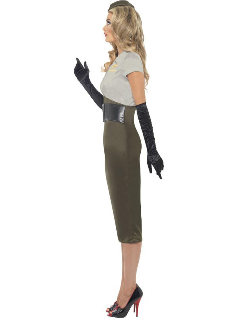 2 PC Women's Army Military Pin Up Lady Pencil Dress w/ Hat Party Costume - Fest Threads