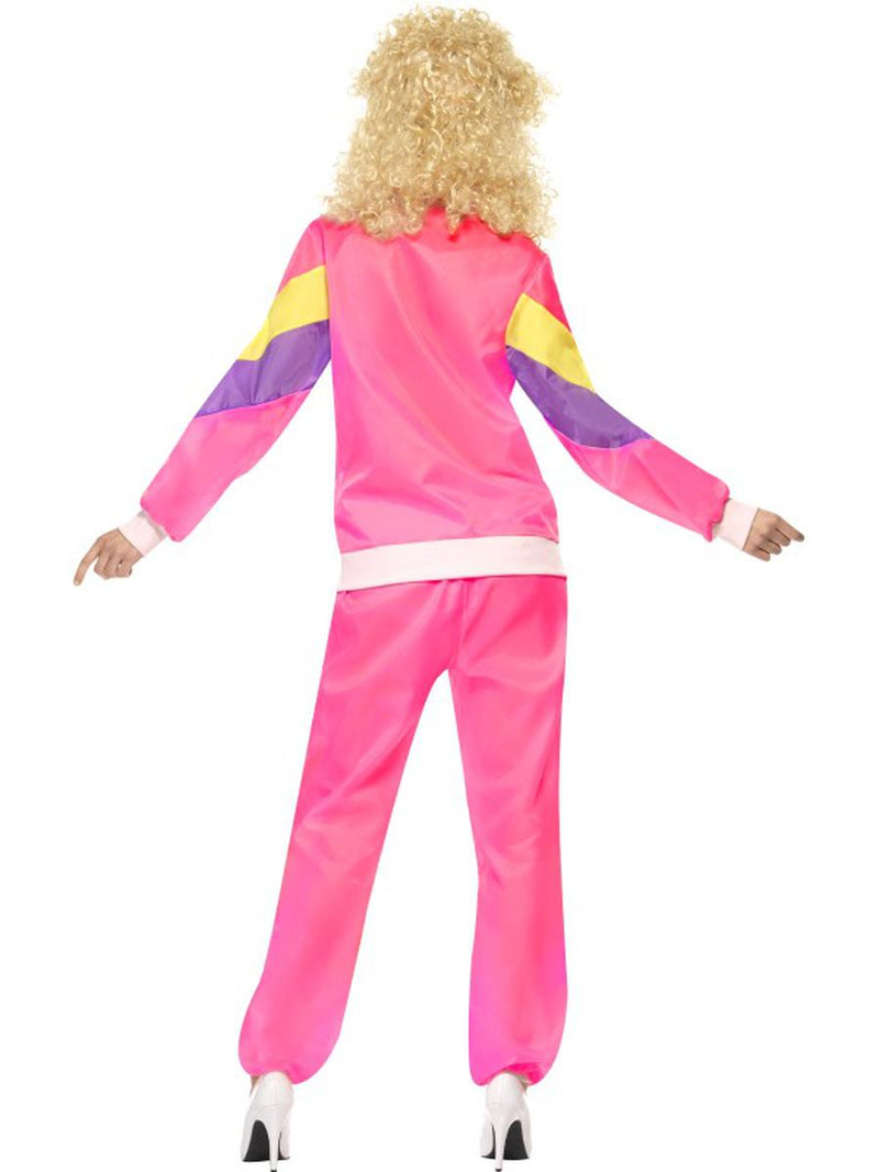 2 PC Women's 80s Workout Fitness Lady Hot Pink Jacket & Pants Party Costume - Fest Threads