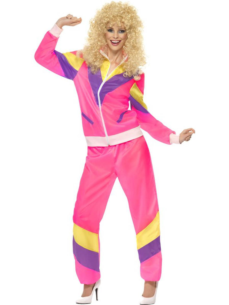 2-PC-Women's-80s-Workout-Fitness-Lady-Hot-Pink-Jacket-&-Pants-Party-Costume